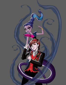 Whisp Grant and Kieran Valentine - Monster High by AzZzAeLL