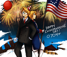 APH - Happy Independence Day by burntnoodles