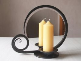 Candle holder with mirror by 3threesuns