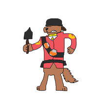 The Soldier in 1980s Pound Puppies style by Mariolover54321