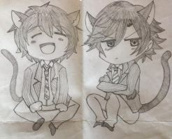 Tokiya and Itokki Chibis by KaiHong