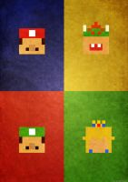 Super Mario Vintage Retro Banner by chrischendes
