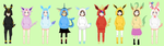 Eeveelutions Sweaters Collab by angelthewingedcat