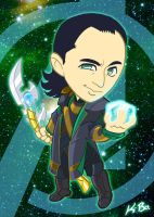 Avengers Loki Art Card by kevinbolk
