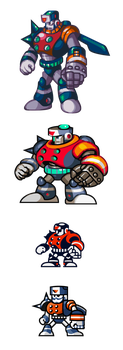 MegaMan ''Sprites''-The Dynamic Duo by WaneBlade