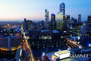 Melbourne Skyline by SuperSprayer