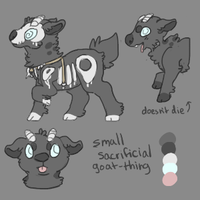 small sacrificial goat by hatchl