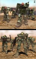 Old models Zakus and Leos by ssejllenrad2
