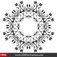 Vector Abstract Floral Decorative Element by 123freevectors