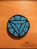 Arc Reactor - felt badge by nezstorm