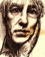 Peter Cook, flawed portrait by xCINNx