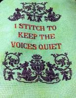Keep the voices quiet by ColourCascadeFabrics