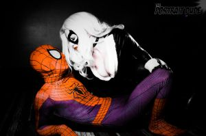 Black cat and Spider-Man by ElspethDark