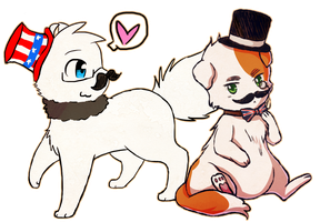 Collab - The Stachecats by say0ran