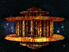 Lysergica  Temples : Fire Lords Sanctuary by PhotoComix2