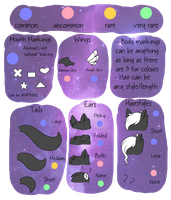 akaiya species feature guide by polterqeists
