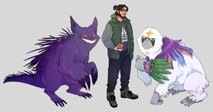 comm - gengar and oranguru by CoryKatze