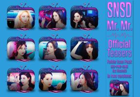 SNSD Mr. Mr. Official Teasers Folder Icon Pack by Rizzie23