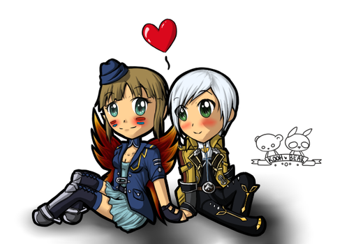 DN Request - Derpy Couple Chibi by perfectstriker