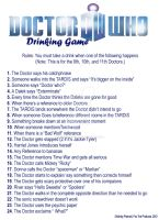 Doctor Who Drinking Game by FoxTrotProducts