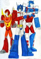 Three Awesome Autobots by PurrV