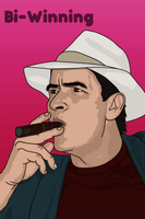 Charlie Sheen. Bi-Winning. by Sam-Sabotage