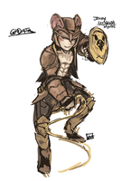 Jerry Mouse Gladiator by bulletproofturtleman