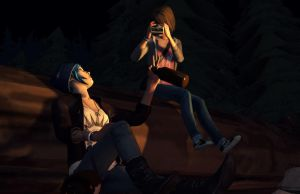 Max and Chloe camping by StaroSeren