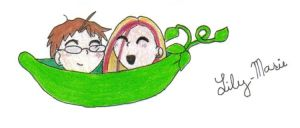 Two peas in a Pod by Lily-Marie