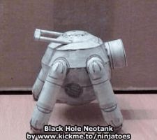 papercraft Neotank animation by ninjatoespapercraft