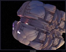 Spacing Guild Heighliner by PaulBaack