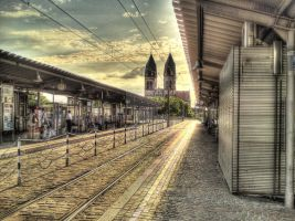 Am Hauptbahnhof Freiburg - hdr by wavespell