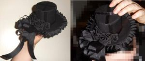 Mini gothic lolita hat by Charly-chan