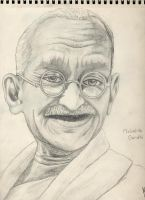 Gandhi by DudeInEmerica