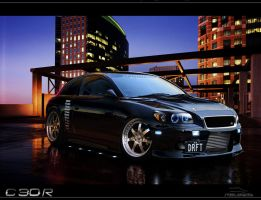 Volvo C30- Dusk by steelwagon6
