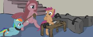 Project Pinkamena Concept art - Dragged by Miles-Valentine
