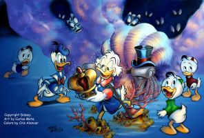 Uncle Scrooge and Donald by CarlosMota