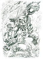 Hulk versus Doomsday by JohnsDead