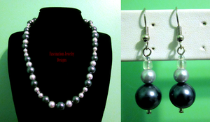 Smokey Pearls Set by BloodRed-Orchid