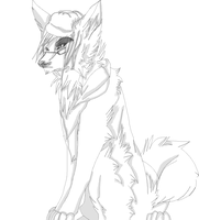 Shaded Wolf Lineart by Bacon-Paws