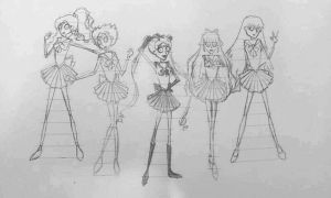 Tim Burton style Sailor Scouts by GamerGirl84244