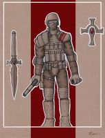 Modern Character Designs - Knights Templar Soldier by carlos1170