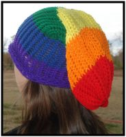 Rainbow Slouchy Beanie by RebelATS