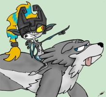 Bossy Midna by cartoons4andy