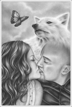 The wolf and the butterfly by Zindy