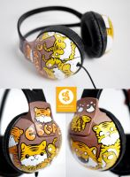 Little Tiger Headphones by Bobsmade