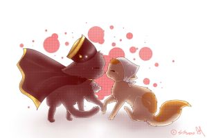 Hetalia: HolyRomanEmpireXItaly Cats by ShootingStar2552