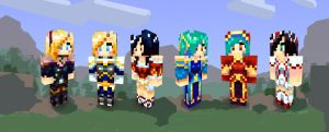 LoL - Minecraft Skins by cubehero