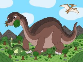 Brontosaur is really bigger than Apatosaurus by MCsaurus