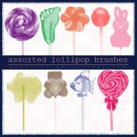 Assorted Lollipop Brushes CS4 by xuei0000